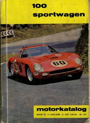 Motorkatalog 100 Sportwagen Band 13 11.1964 0