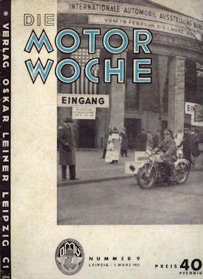 Motor Woche 1931 Nr. 9 0