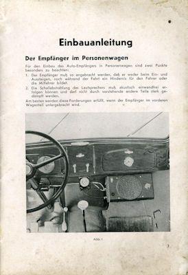 Autoradio Blaupunkt Autosuper Einbauanleitung 7.1938 1