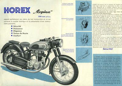 Horex Regina 350 Prospekt ca. 1954 F 1