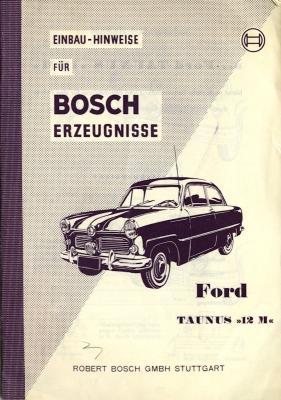 Ford Taunus 12 M Bosch Erzeugnisse 9.1954 0
