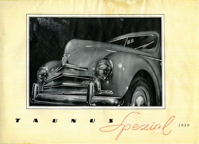 Ford Taunus Spezial Prospekt 1950 0