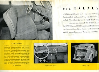 Ford Taunus Spezial Prospekt 1950 1