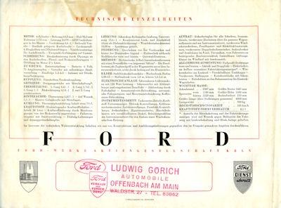Ford Taunus Spezial Prospekt 1950 3