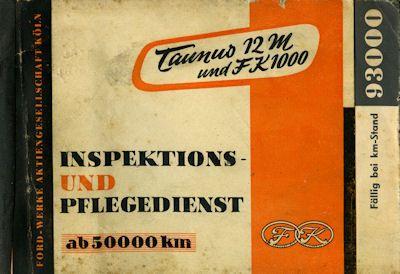Ford Taunus 12 M und FK 1000 Inspektions- und Pflegedienst 1955 0