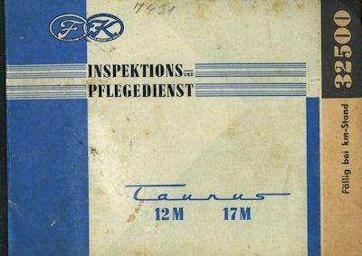 Ford Taunus 12 M und 17 M Inspektions- und Pflegedienst 1958