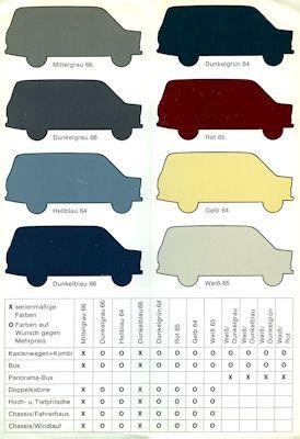 Ford Transit Farben 1966 1