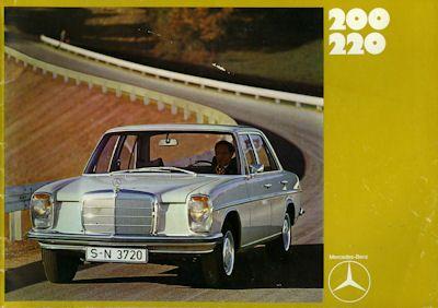 Mercedes-Benz 200 220 Prospekt 12.1970 0