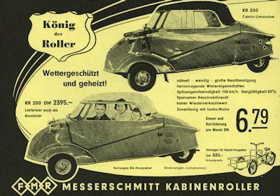 Messerschmitt Tg 500 Prospekt 1950er Jahre 1