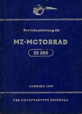MZ ES 250 Bedienungsanleitung 1959