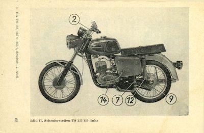 MZ TS 125 150 und 250/1 Bedienungsanleitung 8.1977 1