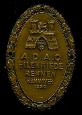 Plakette Eilenriede Rennen 1950 0