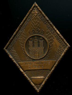 Plakette MSA Hamburg 1928 0