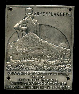 Plakette Göppingen 30.9.1928 0