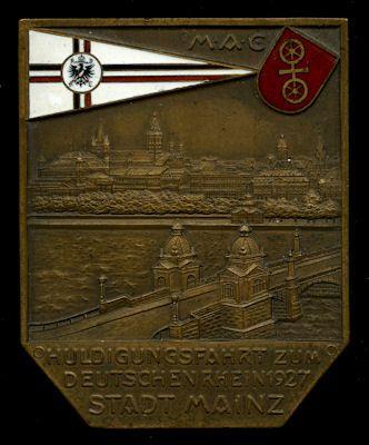 Plakette Mainz 1927
