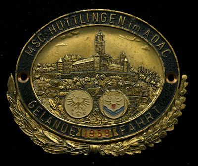 Plakette Hüttlingen 1959 0