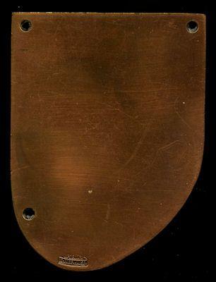 Plakette 6. Hannoversche AvD Burgenfahrt 8.11.1959 1