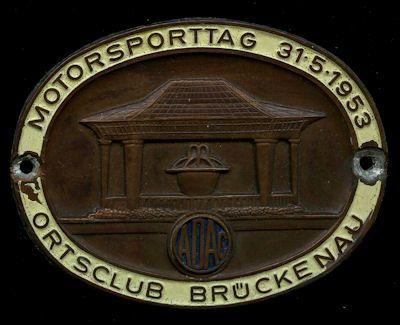 Plakette Bad Brückenau 31.5.1953 0