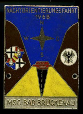Plakette Bad Brückenau 1968 0