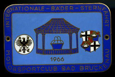 Plakette Bad Brückenau 1966