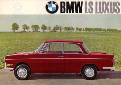BMW 700 LS Luxus Prospekt 1.1965 0