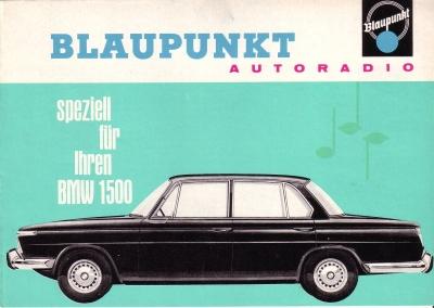 Blaupunkt Radio (für BMW) Prospekt 1963