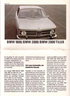 BMW PKW Programm 7.1968 0