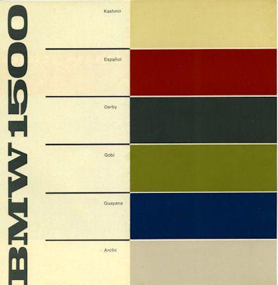 BMW 1500 Farben ca. 1965 1