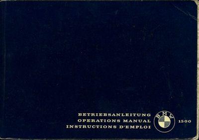 BMW 1500 Bedienungsanleitung 1963 0