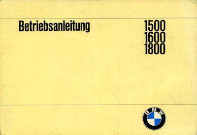 BMW 1500 1600 1800 Bedienungsanleitung 10.1965 0