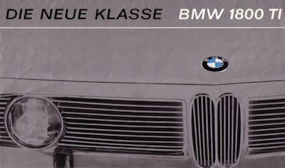 BMW 1800 TI Prospekt 3.1965