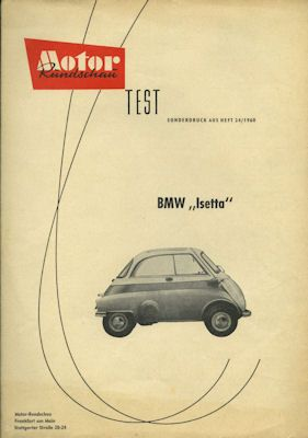 BMW Isetta 250 Test 1960 0