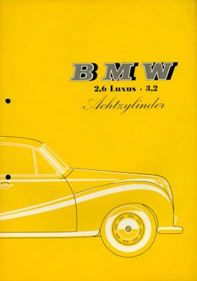 BMW 2,6 / 3,2 Luxus Prospekt 9.1960 0