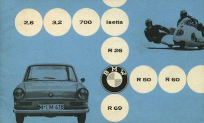 BMW Pkw und Motorrad Programm 5.1960