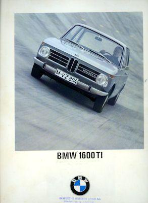 BMW 1600 TI Prospekt 8.1967 0