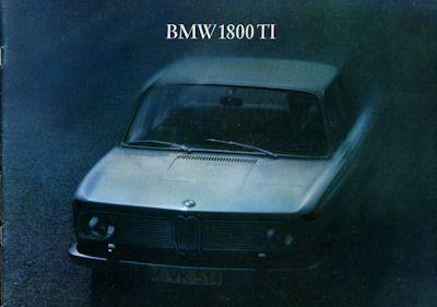 BMW 1800 TI Prospekt 8.1965