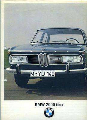 BMW 2000 tilux Prospekt 9.1966 0