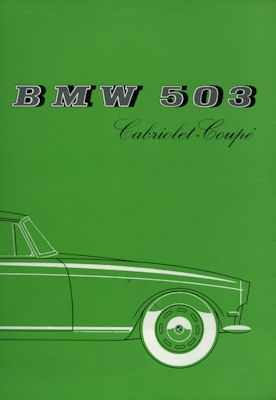 BMW 503 Cabriolet-Coupé Prospekt 1958 f