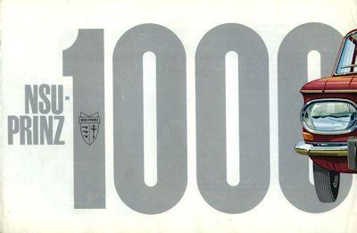 NSU Prinz 1000 Prospekt 6.1963 0