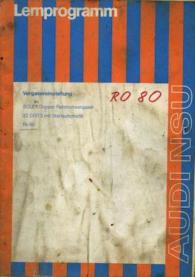 NSU RO 80 Wankel Vergasereinstellung 1970er Jahre 0