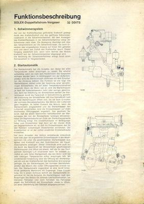 NSU RO 80 Wankel Vergasereinstellung 1970er Jahre 1