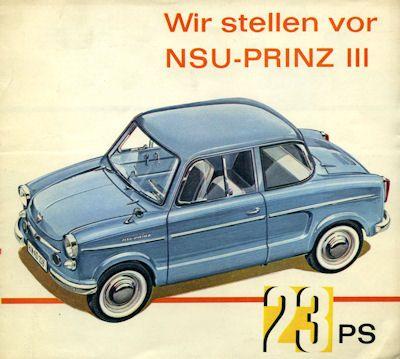 NSU Prinz 3 Prospekt 9.1960