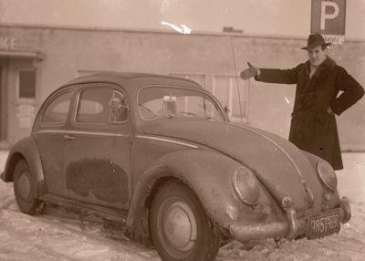 Foto-Negativ VW Käfer 1950er Jahre