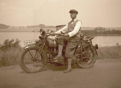 Foto-Negativ Harley-Davidson 1930er Jahre