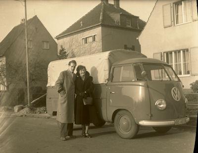 Foto-Negativ (Glas) VW T 1 Pritsche ca. 1952