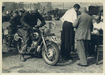 Foto IFA BK 350 Motorsport 1950er Jahre 0