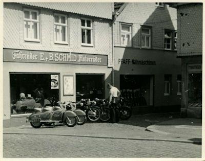 Foto Motorradladen 1950er Jahre