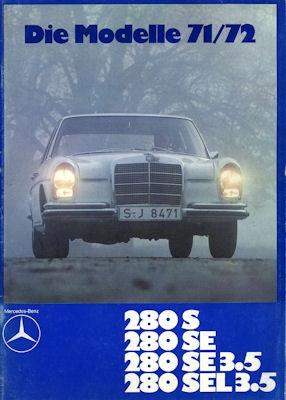 Mercedes-Benz 280 S SE SE3.5 SEL3.5 Prospekt 1.1971 0