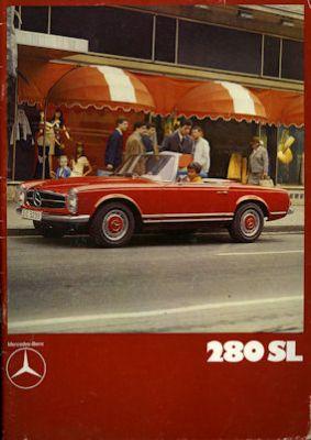 Mercedes-Benz 280 SL Prospekt 1970 / 1990 Reprint 0