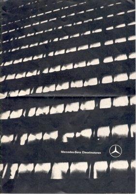 Mercedes-Benz Dieselmotoren Prospekt 12.1962 0